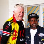 Western Cape Minister of ECONOMIC OPPORTUNITIES Alan Winde with ZAHIER DAVIDS –FOUNDER OF FLYWHEEL CUSTOM CHARIOTS